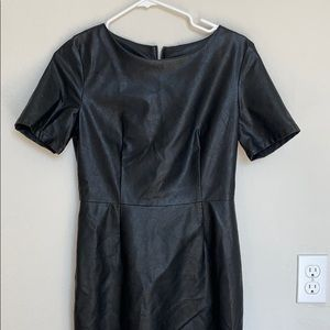 NWT Tailored Vegan Leather Dress